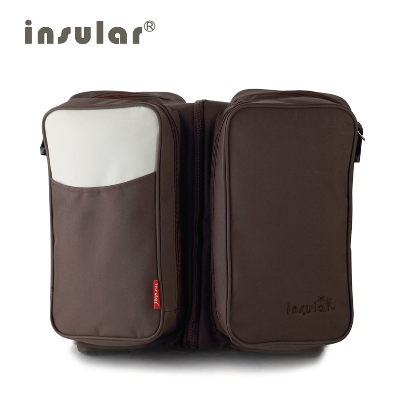 Insular Elegant Baby Diaper Backpacks Bags Nappy Stroller Bags Fashion Large Capacity Multifunctional Combo Mommy Backpack