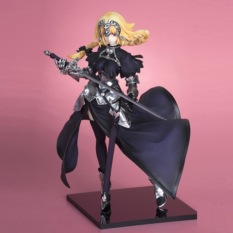 ZXZ 20cm Fate Stay Night Zero Saber Apocryphe Jeanned'arc Joan Of Arc Q Version Japan Anime Figures Action Toy Figures Pvc Model huong anime figure 20 cmfate stay night fate zero apocrypha joan of arc pvc action figure toy model collectibles