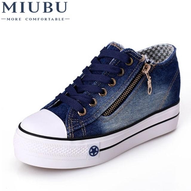cd9a8908b MIUBU Frete Grátis Novas Sapatas de Lona de Lazer Da Moda Sapatos Femininos Sapatos  Casuais calças