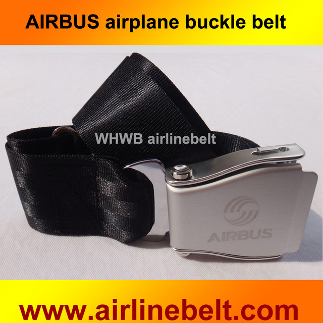 b30a7e12e33f66 Classic Slide Belts AIRBUS Logo Adjustable Oval Shape Slider Belt Airline  Airplane Safety Seat Belt for Jeans