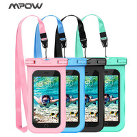 4 Pack Colorful IPX8 Waterproof Mobile Phone Bag For Swimming Universal For Home Button Cutout 4