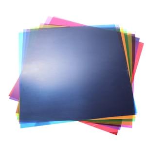 "Image 2 - 12 ""x 12""/30x30 cm Şeffaf 8 Renk Aydınlatma Filtre Jel Düzeltme Levhalar Video kamera Stüdyo Flaş Flaş Işığı"