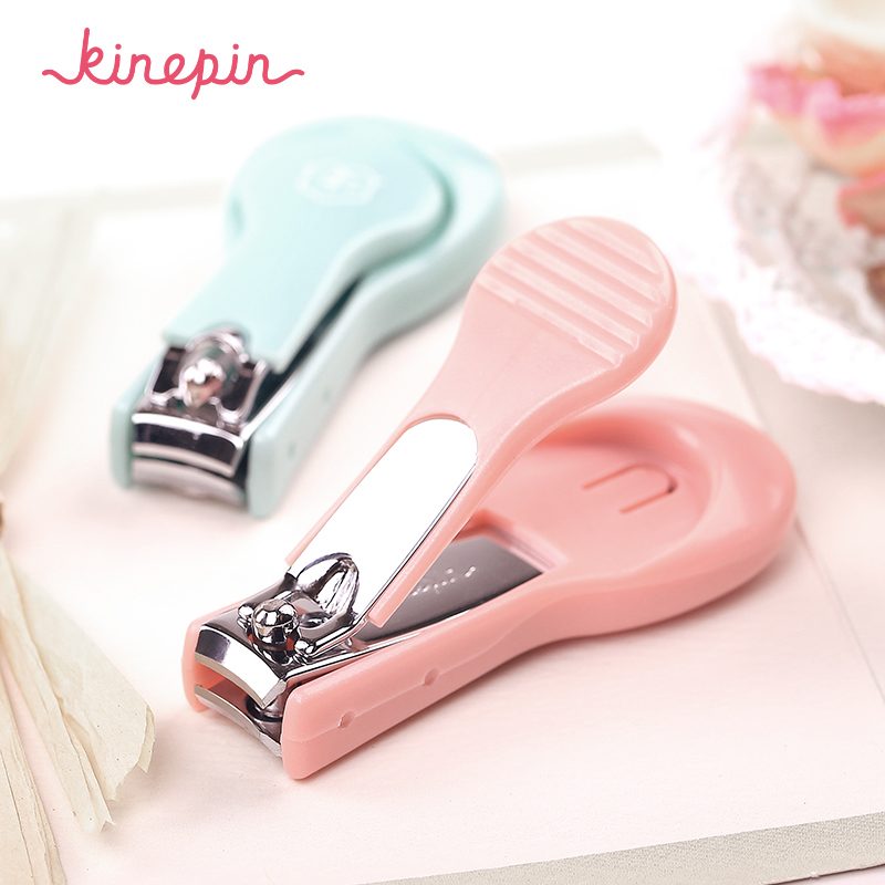 KINEPIN Gullig Snygg Nail Clipper Cutter Manicure Trimmer med Nail File High Quality Fingernail Clippers med Clipping Catcher