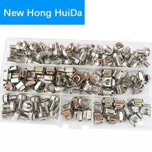 Kit décrous boulons, Cage écrous rondelles, Cage M5 M6, Kit décrous métriques à trou carré, quincaillerie de serveur pour Rack à vis assortiment décrous 50 ensembles