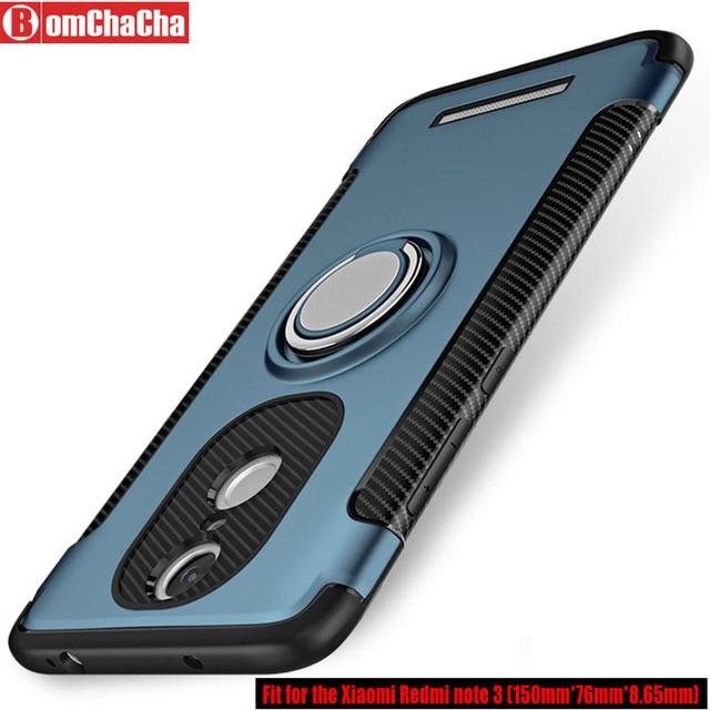 Para Redmi nota 3 Caso armadura híbrido caso de la cubierta protectora para Xiaomi Redmi Note 3 (150mm) cubierta de soporte de montaje magnético para coche