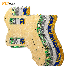 Pleroo Guitar Parts pickguard For Fender US Player Telecaster Tele Deluxe Pick guard With P90 humbucker Scratch Plate