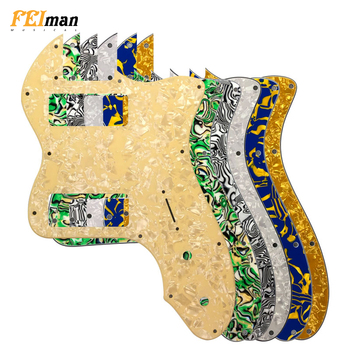 Pleroo Guitar Parts pickguard For Fender US Player Telecaster Tele Deluxe Guitar Pick guard With P90 humbucker Scratch Plate fender pm 1 deluxe dreadnought sbst
