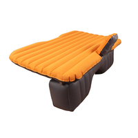 4PCS SET Car Air Mattress Travel Bed Back Seat Inflatable Bed Car Travel Bed Inflatable Mattress