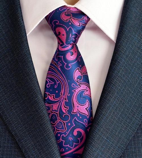 Klasična muška svilena kravata za vrata od 8 cm, vezanje paisley i - Pribor za odjeću - Foto 2