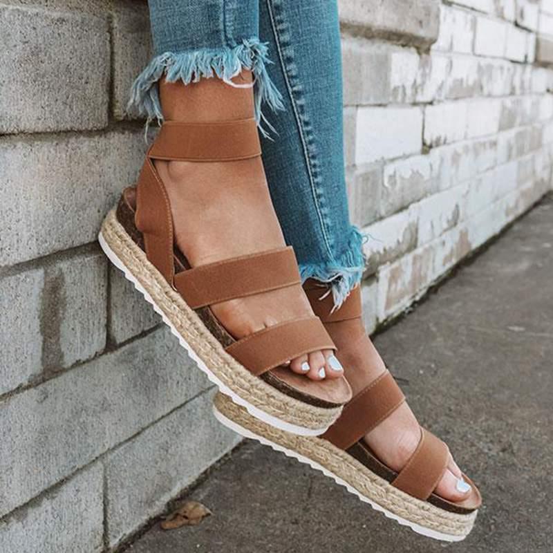 HEFLASHOR Sandals Wedges Women Heels Shoes Platforms Zapatos-De-Mujer