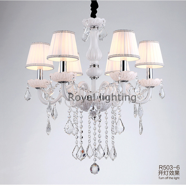 GroB Schaufenster Mini Weiß Kronleuchter Led Kinder Lampen Für Schlafzimmer  Esszimmer Kronleuchter Lampenschirme Amerikanischen Vintage Hängeleuchten