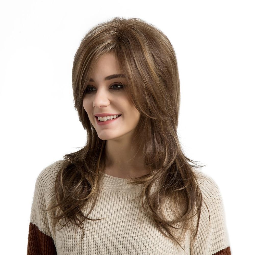Блондинка Единорог 22 дюймов естественная волна Синтетический Поддельные волосы парик с  ...