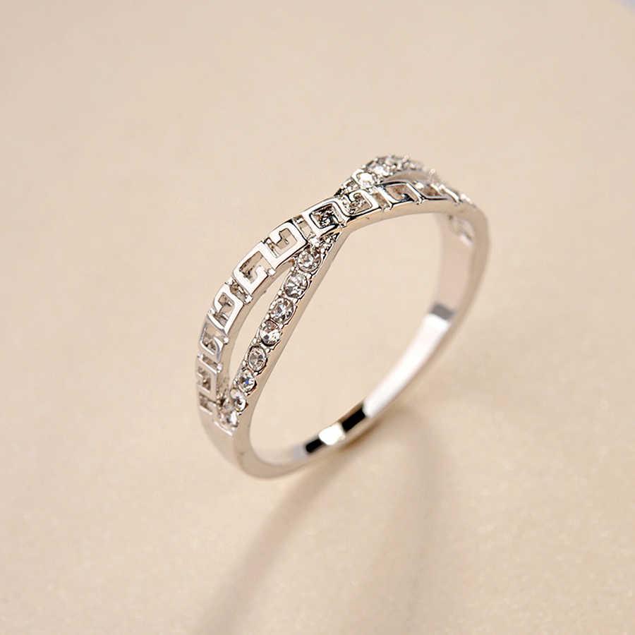 IDESTINY 11,11, marca de moda Joyeria Marcas Famosas, accesorios para mujer, anillo chapado en oro rosa para mujer, el mejor regalo de joyería