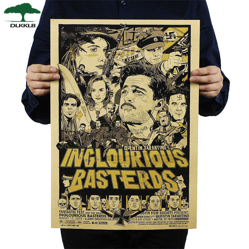 Dlkklb Inglourious Basterds Classic Movie Poster Wand Bar Cafe House Art Decor Mix Artikel Poster Retro Wand Aufkleber