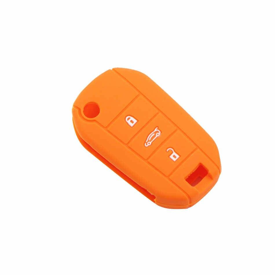 3 nút Cao Su Silicon Chìa Khóa Xe Ô Tô dành cho Xe Đạp PEUGEOT 3008 208 308 508 408 2008 Bìa Bảo Vệ Giá Đỡ Da Xe Ô Tô phụ kiện