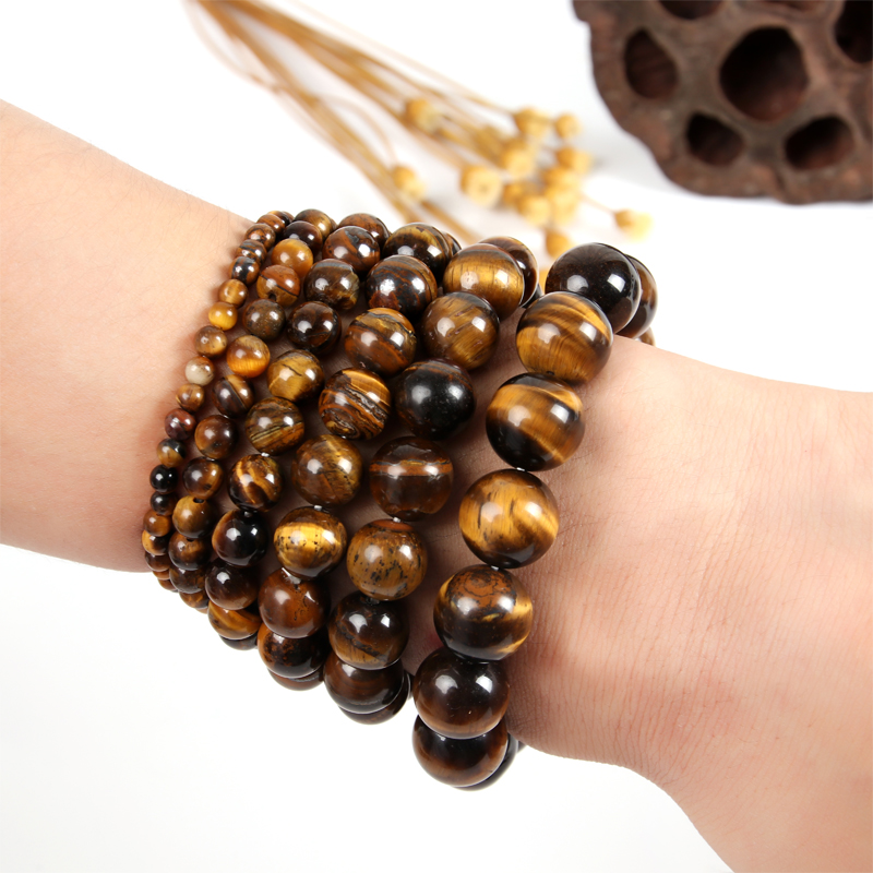 Tiger Eye Bead Bracelet Natural Stone Buddha Bracelets Bangles Buddha Bracelet Men Beads Bracelets For Women Dropshipping