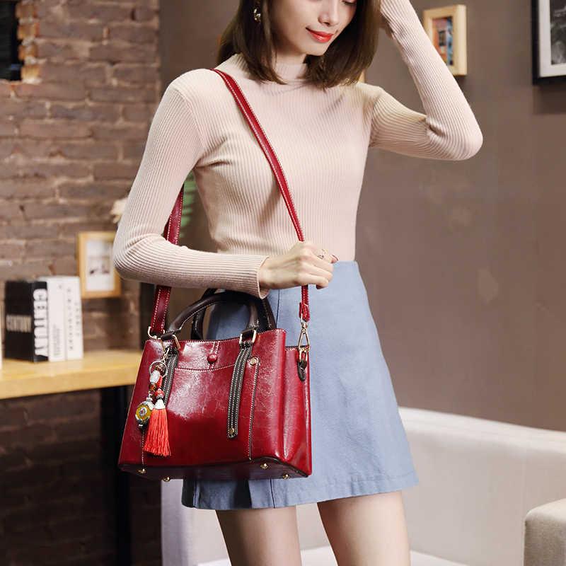 2018 moda feminina totes sacos de bolsas de couro genuíno bolsa de ombro feminina bolsa de ombro nova t65