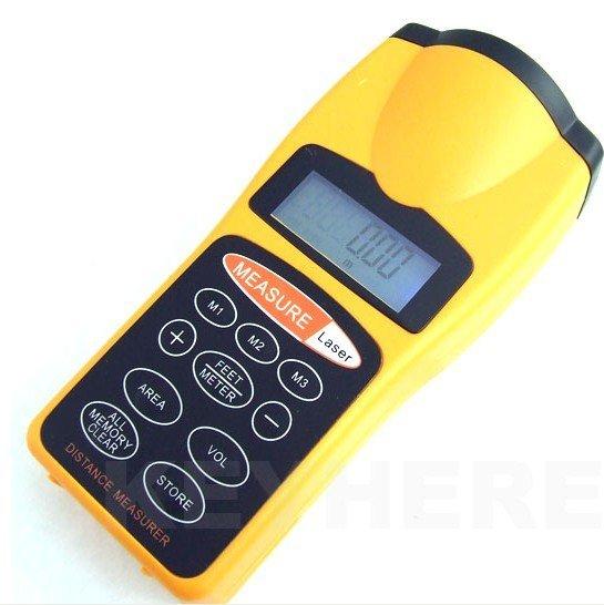 5pcs/lot New LCD Ultrasonic Laser Pointer + Distance Measurer