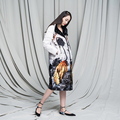 Elegant Patterns Retro Chinese-style Jacket Velvet Down Jacket Female Over-the-knee Down Parks Coat Women Outwear OverCoat