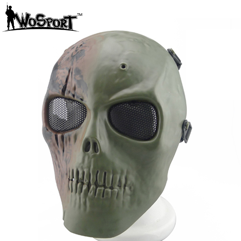 MA-13 Hunting Paintball Accessories Masks Ghost Tactical Skull Skeleton Army Airsoft BB Gun Full Face Game Protect Mask