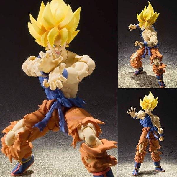 Dragon Ball Z  Figuarts Action goku Figure - Super Saiyan Son Goku Warrior Awakening Ver. original bandai s h figuarts shf exclusive tamashii nation action figure son gokou goku kaiohken ver dragon ball z