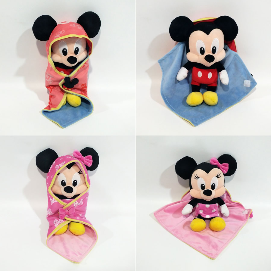 1 Pcs 28cm Cute Baby Mickey And Baby Minnie Mouse With