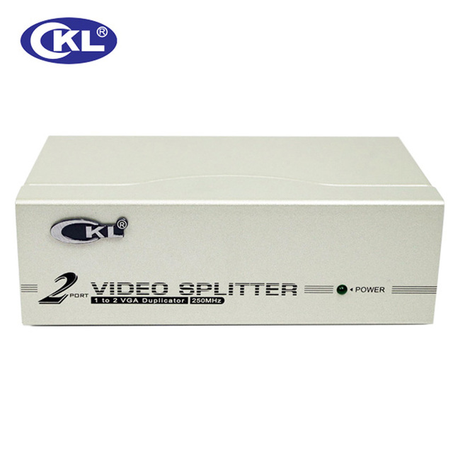 CKL-92A 2Port VGA SPLITTER Metal case, 1 in 2 out VGA Distributor 250MHz