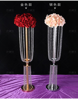 6Pcs 80cm acrylic Imitation crystal wedding centerpiece lead road event wedding decoration / party decoration event candlestick
