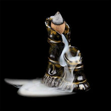 Буддистская горелка для благовоний, украшение дома, Керамическая Мини-горелка для благовоний, дымовая курильница, держатель для горелки, подарок матери