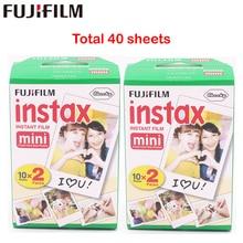Fuji Fujifilm Instax Mini 8 Film Blanc 2 Packs 40 Blätter Film Für 7 s 8 90 25 55 Teilen SP-1 Sofortbildkamera