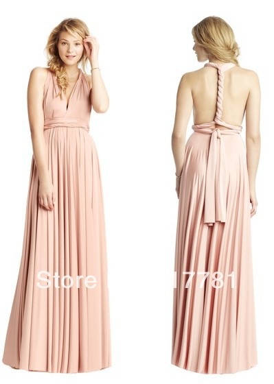 Multi Way Wrap Dress Bridesmaid Dresses Sweetheart Floor Length Bacless Custom Made Free Shipping Bd0041 In From Weddings Events On