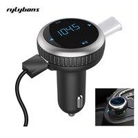 Wireless Bluetooth Handsfree Car Kit LED Voltage Monitor SD USB Car Charger Bluetooth FM Transmitter FM