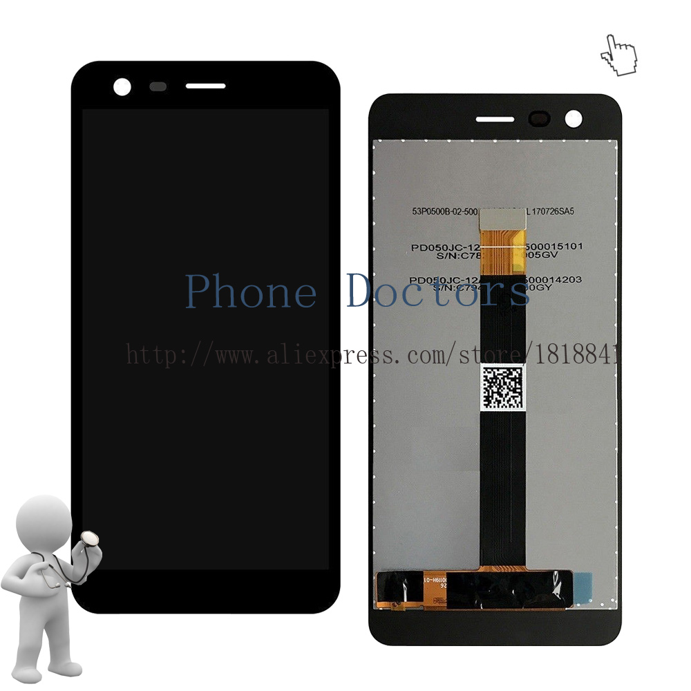 5.0 For Nokia2 Full LCD DIsplay+Touch Screen Digitizer Assembly For Nokia 2 N2 TA-1029 TA-1035 100% Tested