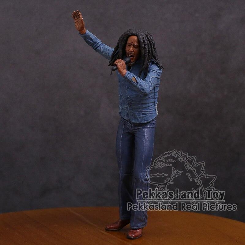 Bob Marley 7  Actionfigur Musik Reggae Legende Jamaika Sänger mit Mikrofon Action- & Spielfiguren