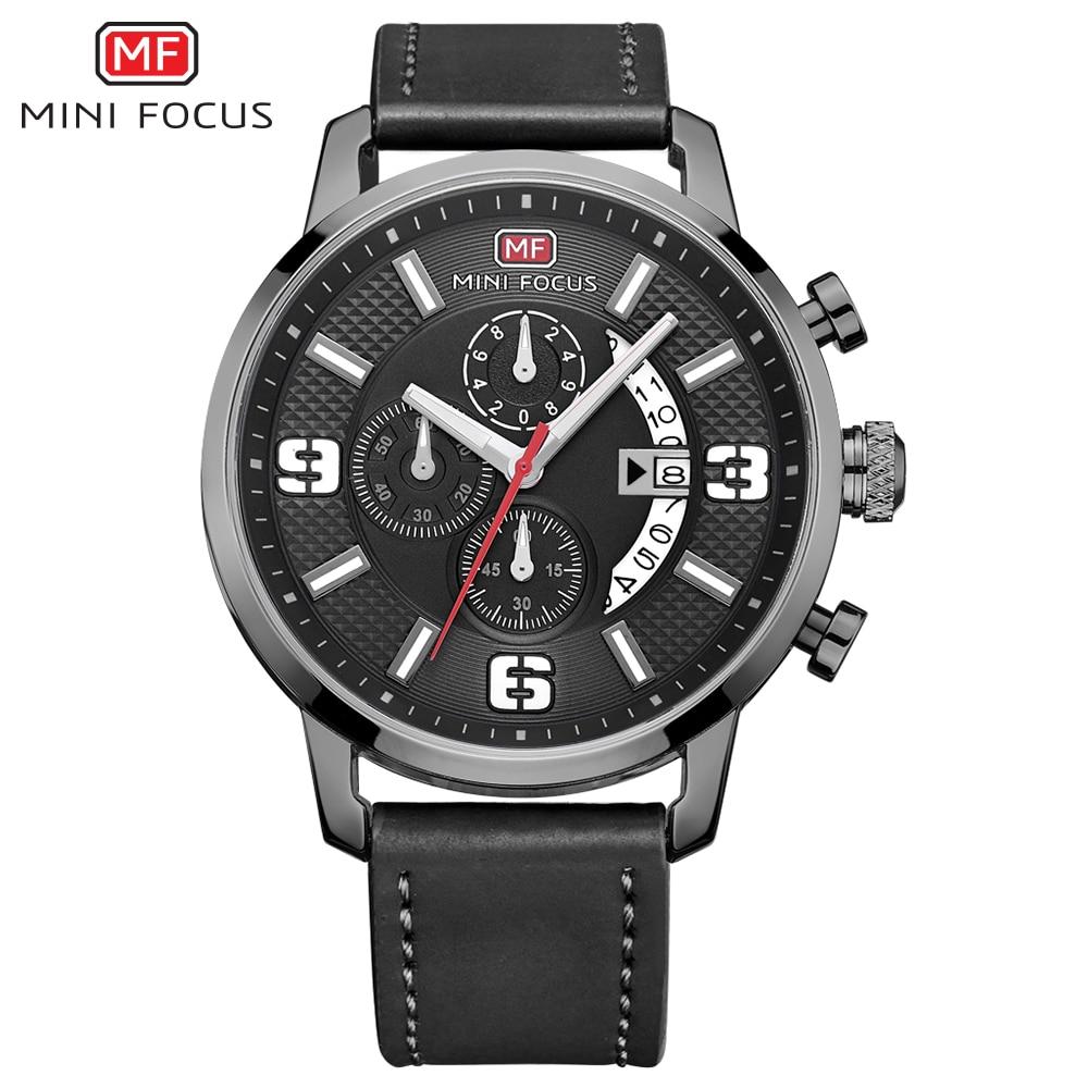 MINI FOCUS Wrist Watch Men Top Brand Luxury Famous Male Clock Quartz Watch Wristwatch Quartz-watch Relogio Masculino MF0025G.04
