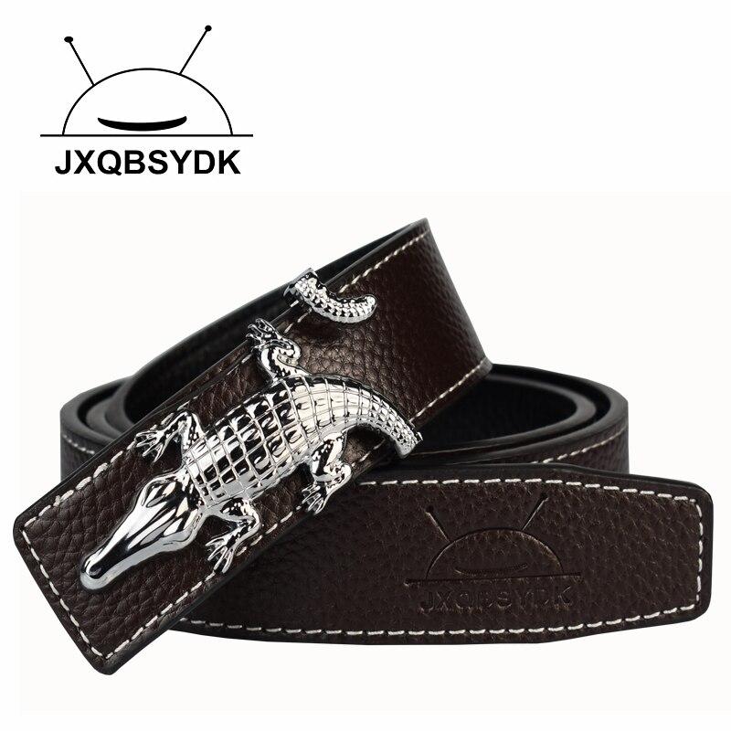 Jaunas luksusa zīmola vīriešiem jostas ar gludu sprādzi All-Match augstas kvalitātes jostas Designer Crocodile ikona Jostas vīriešu ādas jostas vīriešiem