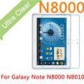 """N8000 2 unids 0.15mm Ultrafino Clear HD Protector de Pantalla Para Samsung Galaxy Note N8000 N8010 10.1 """"LCD de la Guardia Cubierta de La Película + Paño"""