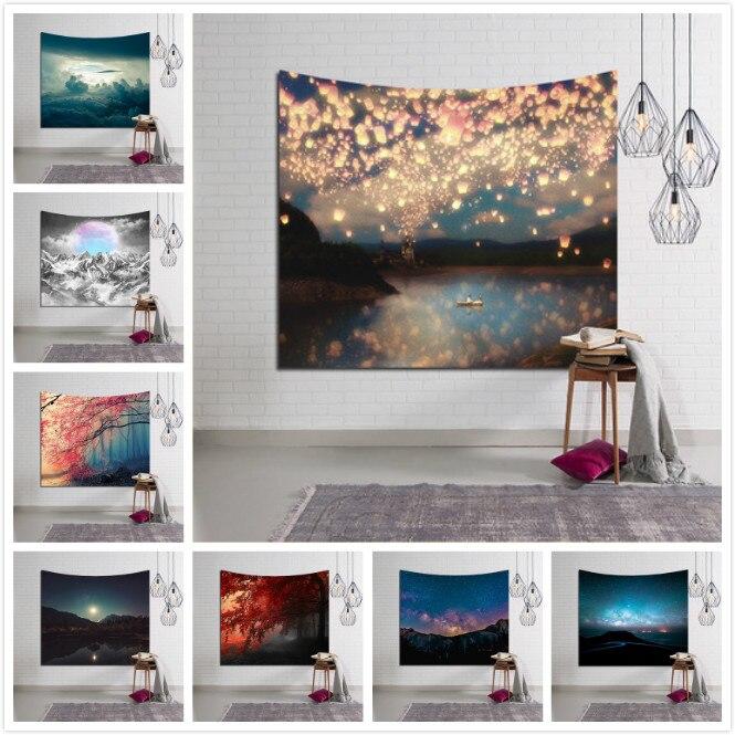 New Galaxy Hanging Wall Tapestry Hippie Retro Home Decor Yoga Beach Towel tablecloths 150x130cm/150x100cm 150*200cm 150*230cm