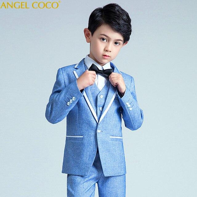 29601aa69 3 Piece Children S Small Suit Handsome Baby Suit Flower Girl Dress ...