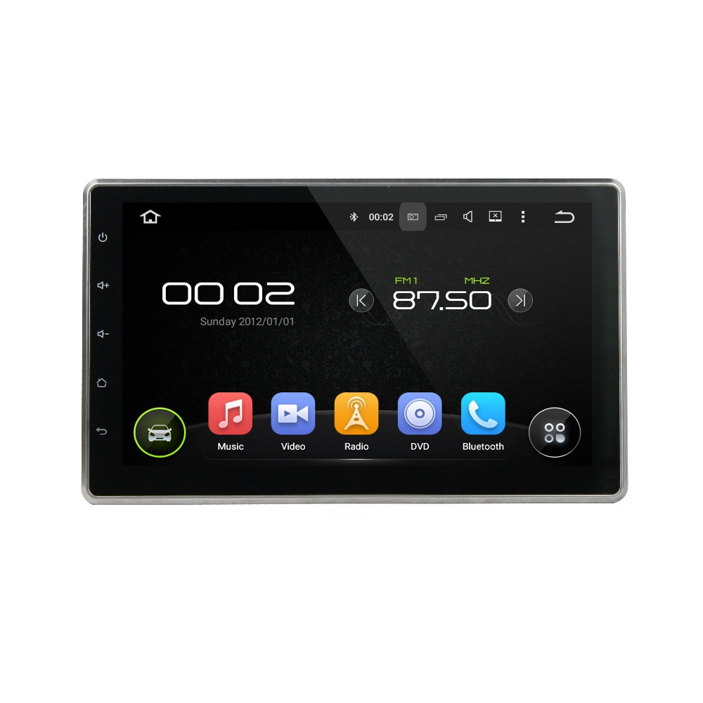 Two Din 10.1 HD SCREEN Car DVD Player OEM Android 5.1 Mirror Link Wifi 3G/4G 16G RAM DVR Car Multimedia System For Universal
