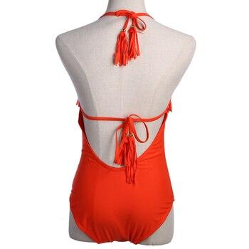Summer Newest bikini 2018 Womens One Piece Swimsuit Monokini Lace Swimwear Tassel Bathing Suits maillot de bain femme 5