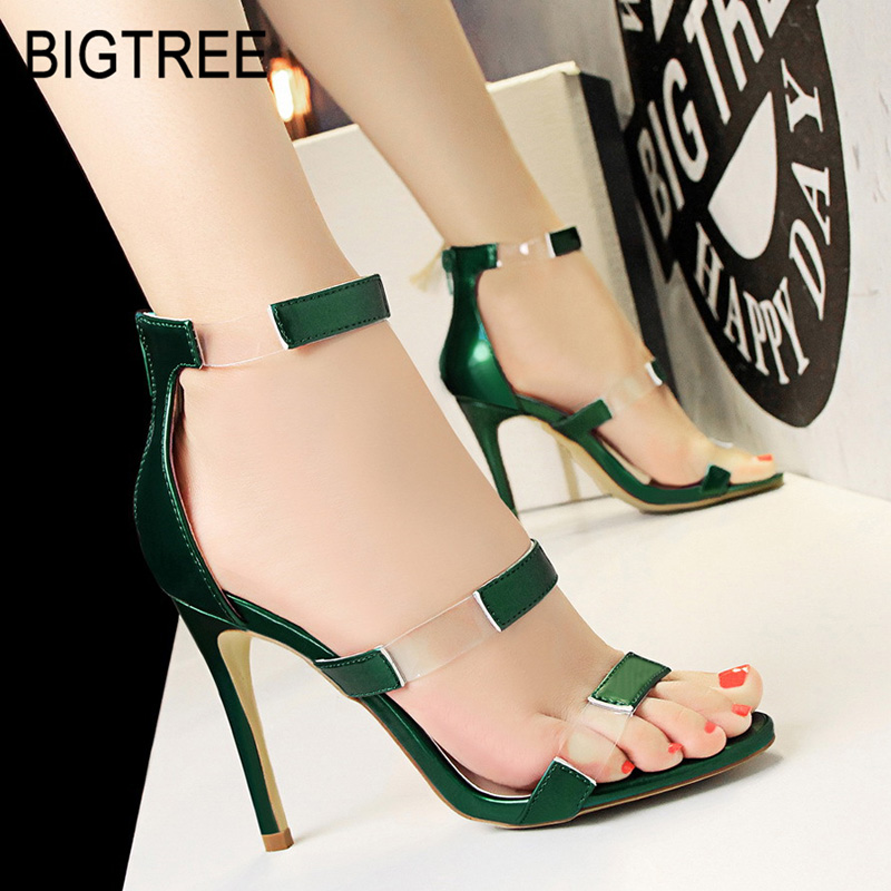 0a8fb618c8e US $8.18 40% OFF|BIGTREE Shoes Spring High Heels Women Shoes New Women  Pumps Sexy Women Sandals Transparent High Heels Shoes Women Wedding  Shoes-in ...