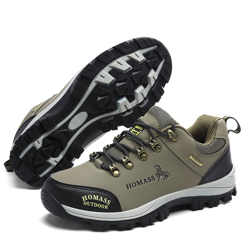 Breathable Unisex Hiking Shoes Autumn Waterproof Mens Mountain Shoes Trekking Shoes Climbing Sneakers Camping Flats