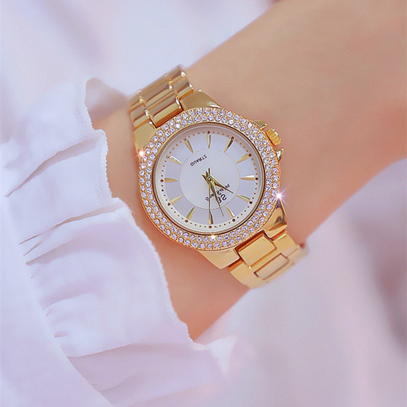 High Quality Women Bracelet Watch Classic Women Diamond Stainleee Steel Casual Watches Lady Quartz Wristwatch Drop Shipping 2019
