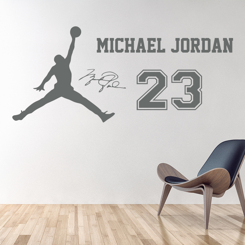 Free Shipping Home Interior Removable Decor Wall Stickers Basketball Stars  Jordan Wall Decor M152(China