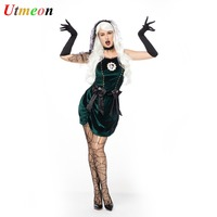 UTMEON Super Deluxe Spider Web Yard Bride Gothic Costume Halloween Costumes For Wonder Woman
