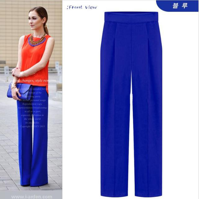 colored wide leg pants - Pi Pants