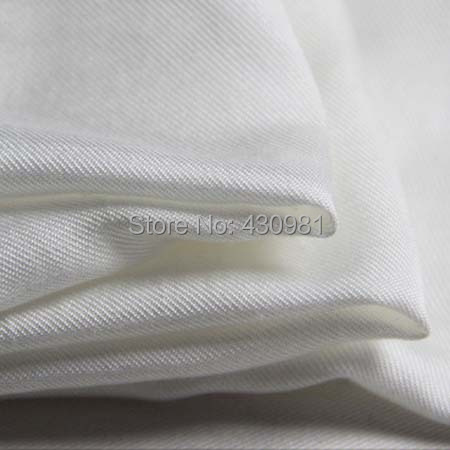100 114cm natural white cotton silk fabric thick twill silk cotton material  high quality 2012ebd72933