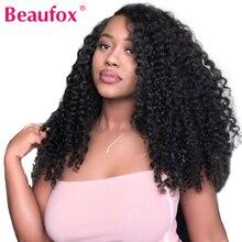 Beaufox głęboka koronkowa fala przodu ludzkich włosów peruki dla czarnych kobiet malezyjskie włosy peruki wstępnie oskubane koronkowa peruka na przód Remy włosy