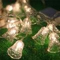 10 M 50 Led Luzes Da Corda do Sino de Tinir Fada Decorativa da festa de Casamento Luzes de Natal Guirlanda De Natal Cortina Decoração Home decor
